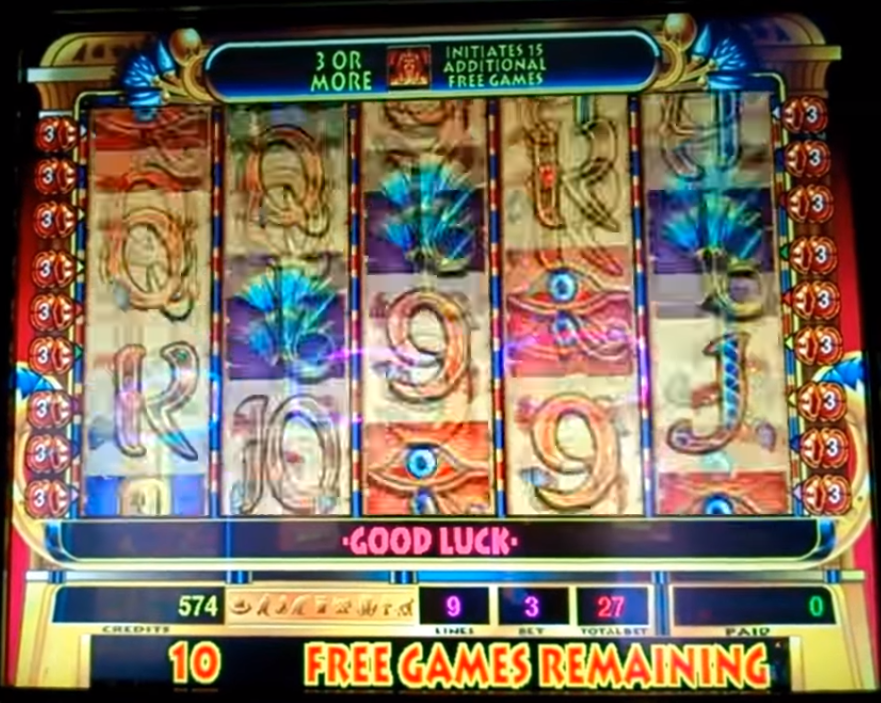 video slot spinning