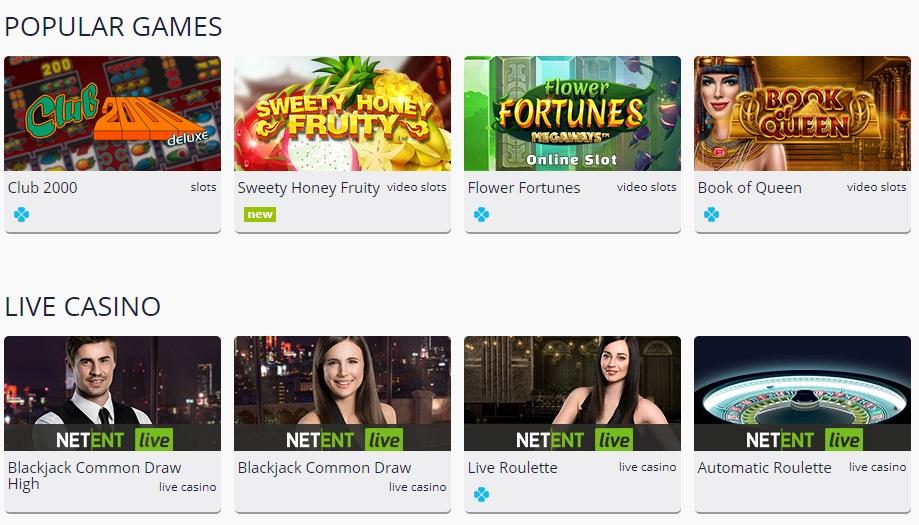 Turbo casino games